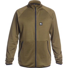 Quiksilver Steep Point Giacca In Pile Con Zip Intera Uomo, military olive